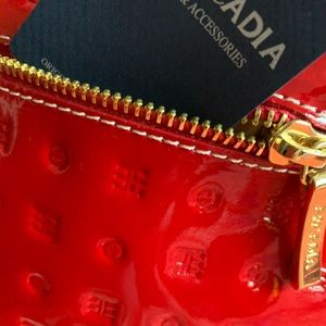 Italian Arcadia Red Leather Bag NWT